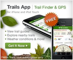 Hiking Trails, Mountain Bike Trails & Trail Maps | Trails.com  search any zip code for nearby trails  you can download the app or just enter the zip on this website.