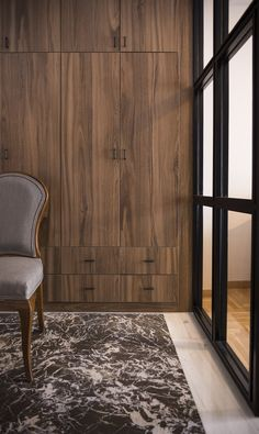 This entrance has a large wall cupboard that functions as a wardrobe and provides precious storage space. #luhadesign. #interiors, #wardrobes, #entrances, #interiorideas, #smallspaces, #storagespace,