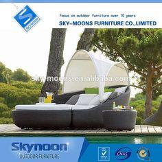 Moderno jardín al aire libre tumbonas de venta, a prueba de agua rústico muebles de exterior, al aire libre de mimbre salones (L059)