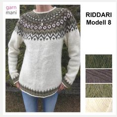 28-03 RIDDARI Modell 8 – Garnmani.no