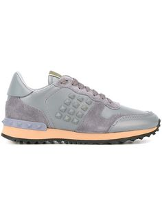 Shop trainers for women at Farfetch and find Gucci Ace, Golden Goose and Balenciaga. Tennis Sneakers, Running Sneakers, High Top Sneakers, Shoes Sneakers, Man Shoes, Valentino Rockstud Sneakers, Valentino Garavani, Valentino Shoes, Baskets