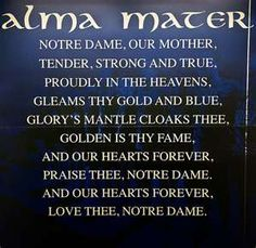 University of Notre Dame Alma Mater