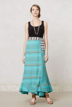 Cinched Waves Maxi Skirt