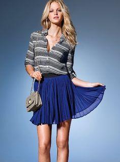 Pleated Mini Skirt   $49.50