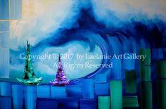 "Nautical Painting ""Ocean Wave"" Original Fine Art For Sale by Miami Artist Laelanie Larach"