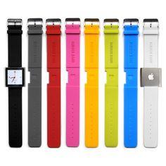 Rubber Band Set For iPod Nano - make it a watch