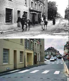 Then and now... 82nd Airborne Division | 505th Parachute Infantry Regiment | Sainte-Mère-Eglise (© DDay-Overlord)