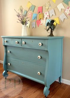 Love the bunting and dresser Picked & Painted