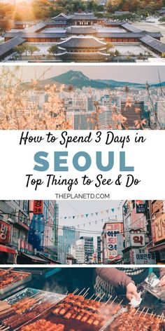How to spend 3 days in Seoul, South Korea. Make the most of your short time with the top things to do from a traditional Hanok house to Hongdae Nightlife, and Korean market food. The perfect amount of time in Seoul, this itinerary will help you make the most out of every minute. Travel in South Korea. | Blog by the Planet D #Travel #TravelTips #TravelGuide #Wanderlust #BucketList #Seoul #SouthKorea #Korea #Asia Cool Places To Visit, Places To Travel, Places To Go, Travel Destinations, Seoul Korea Travel, Asia Travel, Seoul Travel Guide, South Korea Seoul, Seoul Itinerary