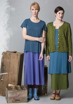Yksivärinen hame modaalia/elastaania – Hameet – GUDRUN SJÖDÉN - vaatteita verkossa ja postimyynnissä