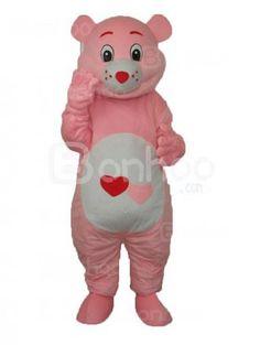 Hear Pink Bear Plush Adult Mascot Costume