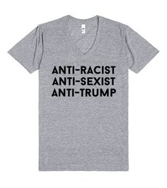 Anti-Trump | V-Neck | Front