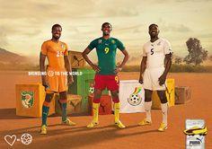 Emmanuel Eboue for Ivory Coast, Samuel Eto'o for Cameroon & John Mensah for Ghana