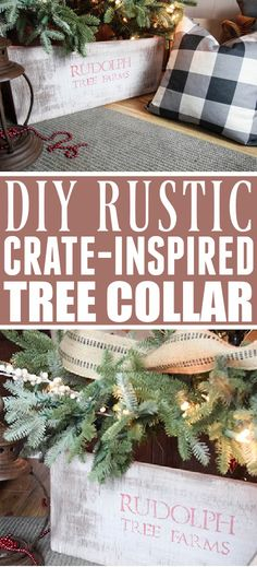 DIY Rustic Christmas Tree Collar Skirt | The Creek Line House