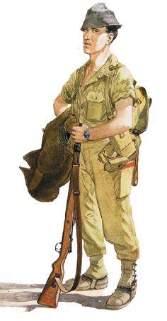 """Infantryman, 27th Mechanised Bde.; Sinai, October 1956"", Mike Chappell"