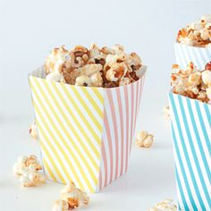 Download this free printable popcorn box template for a cute popcorn presentation!