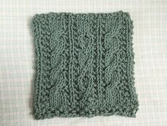 Green Cable Knit Dishcloth by GiftFairyTreasures on Etsy