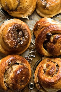 NYT Cooking: These sweet yeasted breakfast buns may be prepared and refrigerated in muffin tins overnight so they are oven-ready after one last rise the next day.
