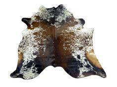 H-285 Speckled Tricolor Cowhide Rug  6.5' X 6' B by Cowhidesusa