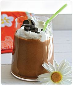 ingredients  ½ cup whole milk,  2 shots espresso - or ½ cup very strong coffee,  2 tablespoons Heavenly Chocolate Sauce,  1 packet DOVE CHOCOLATE DISCOVERIES™ (DCD) Java Chip Smoothie Mix,  1 cup ice cubes,  ½ cup whipped topping - plus more for garnish  PREPARATION  1. In an electric blender, pour in whole milk, espresso, Heavenly Chocolate Sauce, Java Chip Smoothie Mix, ice cubes and whipped topping, in that order.  2. Blend for approximately 30 to 60 seconds until mixed thoroughly.  3. Serve with a dollop of whipped topping.