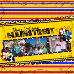 Main Street, Disney scrapbook layout