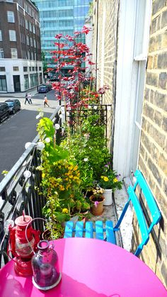 tiny balcony with chair