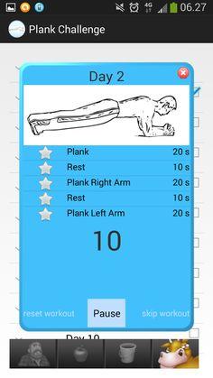 Daily plank challenge app
