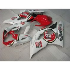 Suzuki GSX-R 1000 2005-2006 K5 Injection ABS Fairing - Lucky Strike - White/Red | $679.00