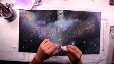 DIY Galaxy Painting on Binder