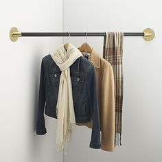 How to Install a Closet Rod. Putting up a closet rod is an easy project that can improve the organization of your closet immensely. In order to successfully install a closet rod, you first need to get the necessary supplies and tools. Shelves In Bedroom, Closet Bedroom, Closet Space, Budget Bedroom, Wall Shelves, Girls Bedroom, Bedroom Ideas, Closet Rod, Closet Storage