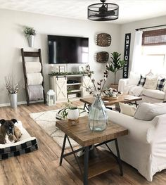 48 Cute Modern Farmhouse Living Room Decor Ideas living room design 48 C. 48 Cute Modern Farmhouse Living Room Decor Ideas living room design 48 Cute Modern Farmhouse Living Room Decor I. Modern Farmhouse Living Room Decor, Cottage Living Rooms, Rustic Farmhouse, Farmhouse Homes, Farmhouse Ideas, Modern Room, Farmhouse Tv Stand, Farmhouse Livingrooms, Country Living Rooms