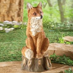 Regal Fox Garden Statue from Collections Etc.