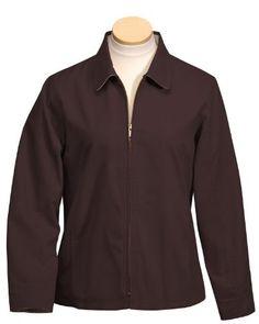 Tri-Mountain Women's Long Sleeve Nylon-Lined Zipper Jacket, Medium, BROWN Tri-Mountain. $62.99