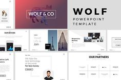 Wolf Minimal PowerPoint Template by Slidedizer on @creativemarket