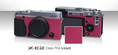 Need more pink in your life? Check out this awesome pink signature skin for the Fujifilm X-E2 digital camera  http://shop.fujifilm.co.uk/accessories/x-signature-skins/?mod=xe2skin=x-e2-deep-pink-lizardplate=silver