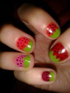 Deco fresas de colores