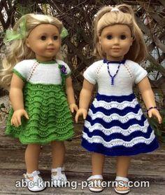 American Girl Doll Ocean Waves Summer Dress