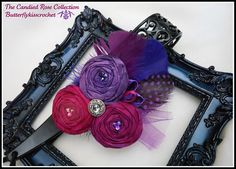 Raspberry Plum Grape Filigree Plastic Lace by butterflykisscrochet, $28.00