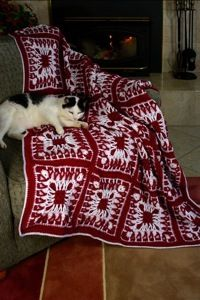 Pattern-RaspberriesAndCream creativepartnersllc.com I made this in green and red for a very nice christmas afghan!