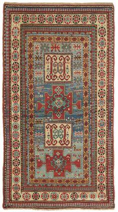 Invigorating Karachov Kazak Caucasian Rug