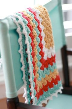granny square baby blanket - love the colors