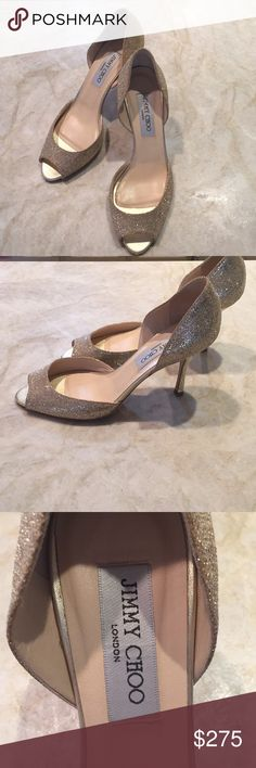 Jimmy Choo metallic gold pumps Sz 37.5 Excellent condition. Worn once. So elegant. Jimmy Choo Shoes Heels