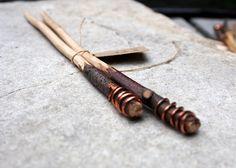Hand made knitting needles: river Birch, Size 9