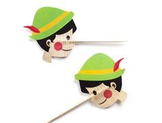 ピノキオの鼻で爪楊枝。