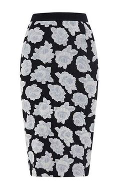 Floral jersey-jacquard knit skirt by NINA RICCI Now Available on Moda Operandi