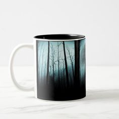 Shop Cool, spooky tree coffee mug created by Manitoba_Haunted. Black And White Coffee, White Coffee Mugs, Spooky Trees, Bare Tree, Ghost Hunters, Halloween Ghosts, Top Gifts, Coffee Travel, Custom Mugs