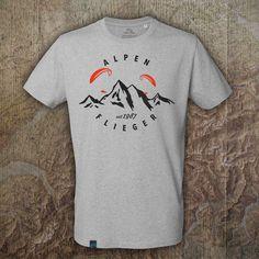 gleitschirm-shirt-alpenflieger Diy Fashion, Mens Tops, Parapente (paragliding), Alps