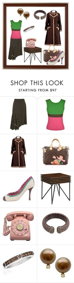 """Brownie points"" by tinydancer2018 ❤ liked on Polyvore featuring TIBI, Issey Miyake, Louis Vuitton, Marc Jacobs, Magnolia Home and LeVian"