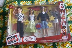 "Mattel Disney High School Musical 3 Ready 4 Prom Dolls. $45.00 plus $8.00 shipping. Tear in cello window by Ryan face. Box shows some wear. The girls are approx 10""inches The boys are approx 10.5"" Never removed from box."