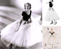 PLUS Size 1950s Grace Kelly Dress... from Rear by pinkpurr on Etsy